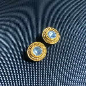 Chanel vintage crystal clip on earrings.